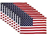 (Wholesale 12 Pack Lot 12 Flags) 3×5 USA American Stars and Stripes Flag Flags 3'x5′ House Banner Grommets / Eyelets Premium Silky Nylon Polyester Indoor Outdoor Pennant USA Seller For Sale