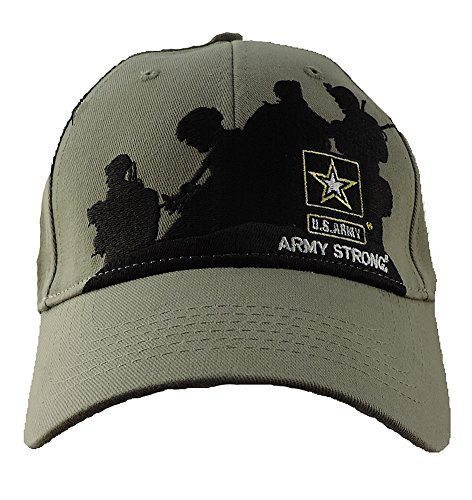 ARMY STRONG Brothers In Arms Silhouette Baseball Cap Olive (Silhouette Olive)