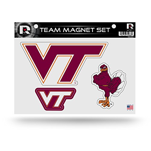 (Rico Industries NCAA Virginia Tech Hokies Die Cut Team Magnet Set Sheet)