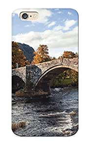 New Arrival Case Cover IGqpSfV3347BERYb With Design For Iphone 6- Stone Bridge In The Village Best Gift Choice For Lovers