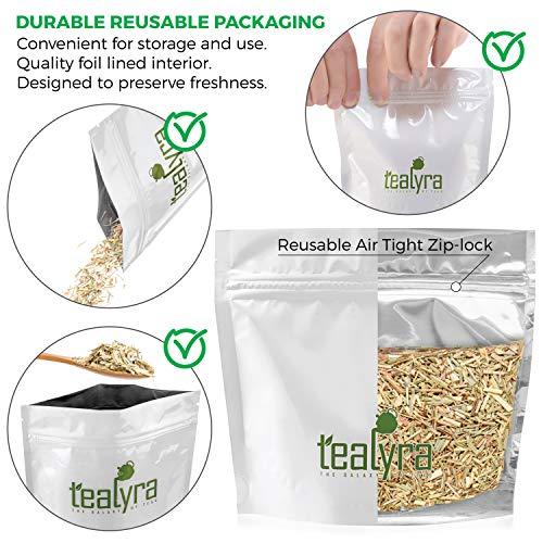 Tealyra - Pure Lemongrass - Loose Leaf Herbal Tea - Wellness Healthy Herb Tea - Caffeine-Free - Organically Grown - 112g (4-ounce)