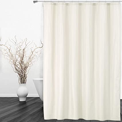 CAROMIO Fabric Shower Curtain Or Liner Hotel Quality Waterproof For Bathroom