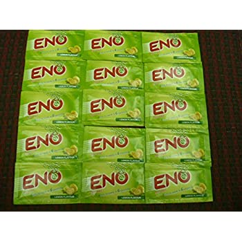 15 X Eno Fruit Salt Antacid Instant Acidity Relief Lemon (Lime) Flavour 5g X 15 Sachet