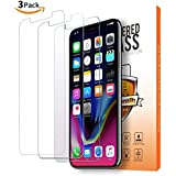 Iphone X Glass Screen Protector (3-pack),2pcs Clear Tempered Glass Screen Protector,1pcs Anti-Blue Light Double Defense Glass Screen Protector for Apple iPhone X / iPhone 10