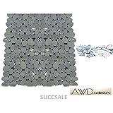 Wohnideenshop Duscheinlage Plain grau transparent 53cm x 53cm Steinoptik und in anderen Farben zur Auswahl