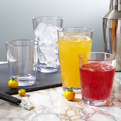 Bistro 15-ounce Premium Quality Clear Plastic Tumblers | set of 6 by US Acrylic (Image #1)