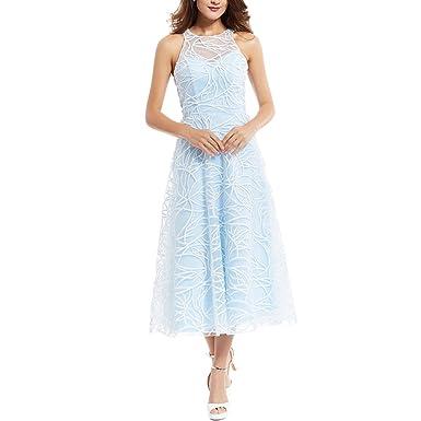 8dd619736 Clocolor Scoop Neck Zipper-Up A Line Evening Dress at Amazon Women s ...