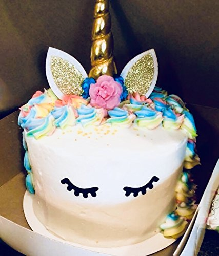 Prime Arts USA | 3D Unicorn Cake Topper with Eyelashes and Headband | DIY Unicorn Party Supplies Cake Decoration Kit for… 7