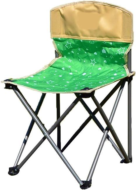 DYFAR Juego de 5 sillas Plegables para jardín, Juego de Mesa y Silla Plegable Simple Ocio portátil Cómodos picnics Viaje a la Playa Patio Cuatro sillas y una Mesa, Green: Amazon.es: Deportes