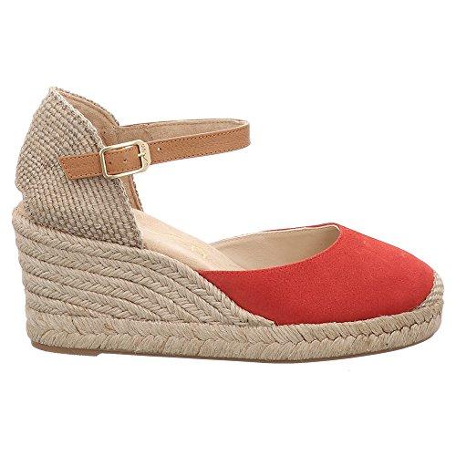 Sandalette Unisa Rouge Pomelo Rot Caceres 7wag5