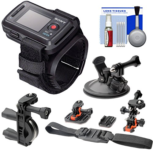 Sony RM-LVR2 Live View Wireless Wristband Remote + 2 Helmet, Surface, Handlebar & Suction Cup Mounts for Action Cam AS20, AS100V, AS200V, AZ1 & X1000V -  K-87470-01