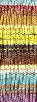 Lana Grossa Gomitolo Molto 200g Kammgarn Bobble Wolle mit Farbverlauf und Herz Blau-Gr/ün-Grau-T/ürkis