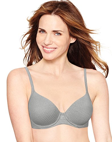 Hanes Women's Ultimate T-Shirt Soft Foam Light Lift Bra, Silver Shadow/Stripe Heather, 34C (Strapless Bras Hanes)