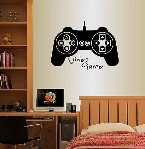 Wall Sticker Game Art Vinyl Mural Decor Boys Bed Room Decor Cute Smooth Surface