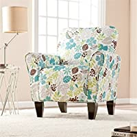 Pemberly Row Accent Arm Chair in Floral Print