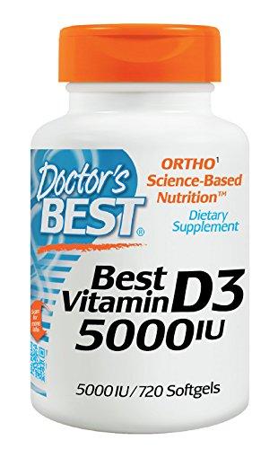 Doctor's Best Vitamin D3 5000 IU Soft Gels, 720 Count