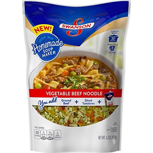 Price comparison product image Swanson Homemade Soup Maker, Vegetable Beef Noodle, 4.21 oz