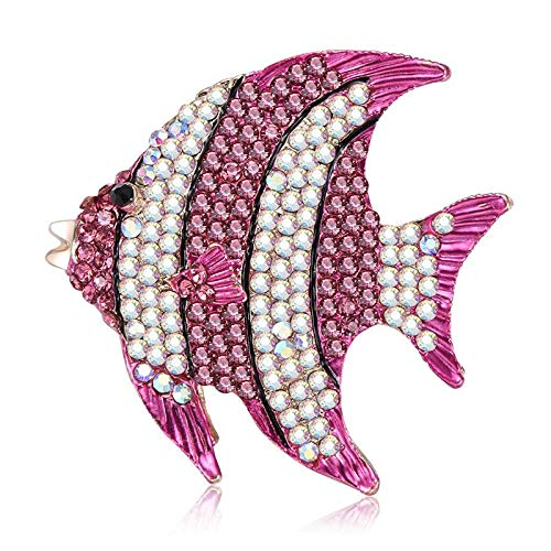 - Daisy Storee Fish Brooch Rhinestone Luxury Decorative Charms Jewelry Badge Banquet Scarf Pins Banquet