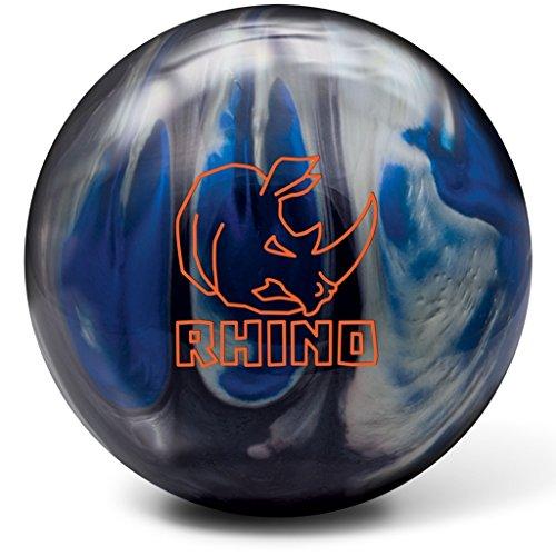 Brunswick Rhino Reactive Pre-Drilled Bowling Ball, Black/Blue/Silver Pearl, 13