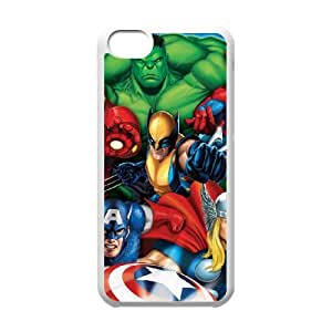 IPhone 5C Phone Case for Classic movies Hulk Iron Man Thor Theme pattern design GCMHIMT952169