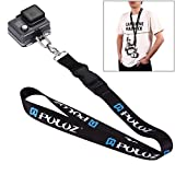 PULUZ 60cm Detachable Long Neck Chest Strap Lanyard Sling with Quick Release and Safety Tether for GoPro Session 5/ 4 Hero 6/ 5/ 4/ 3+/ 3/ 2/ 1 and the Other Sports Action Cameras