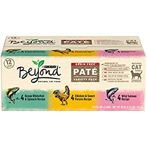 Purina Beyond Grain-Free Pate Adult Wet Cat Food Variety Pack - (12) 3 oz. Cans