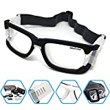 Bertha Outdoors Safety Sports Goggles Protective Glasses For Basketball Football Volleyball Baseball ect 1006 (Matte Black)