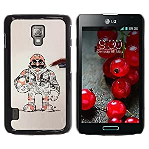 A-type Colorful Printed Hard Protective Back Case Cover Shell Skin for LG Optimus L7 II P710 / L7X P714 ( Super Game Character Retro Console )