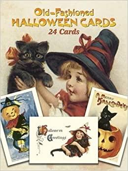 old fashioned halloween cards 24 cards dover postcards gabriella oldham 9780486257464 amazoncom books - Old Fashion Halloween