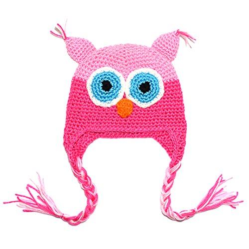 Pink Knit Beanie Hat - 7