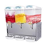 SUNCOO Juice Dispenser Beverage 3 tanks Commercial Smoothie Maker Slushy Making Machine with Spigot Drink Dispenser
