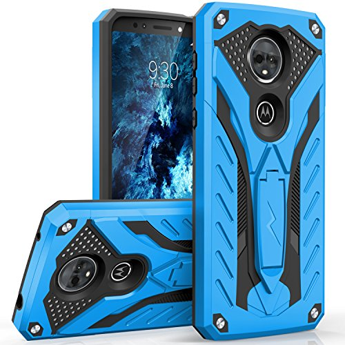 Zizo Static Series Compatible with Motorola Moto e5 Supra Case Military Grade Drop Tested with Built in Kickstand Moto e5 Plus Case Blue Black