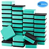 Dry Erase Erasers 40 Pack, EAONE Magnetic Whiteboard Dry Erasers Chalkboard Cleaner Wiper for Classroom Home Office, Green