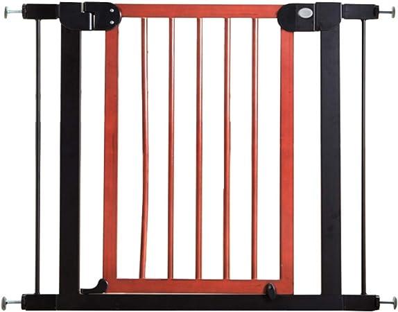 QIANDA Barrera de Seguridad Bebé Puerta de la Escalera para Extensiones De Puertas La Seguridad for Niños Protector De Barrera for Niños (Madera Y Metal): Amazon.es: Hogar