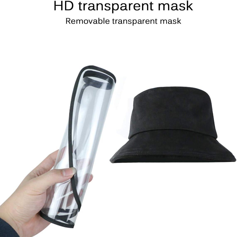 Jian Ya Na Sombrero protector facial Gorro de protecci/ón facial antisalpicaduras gorra de pescador con visera extra/íble antipolvo