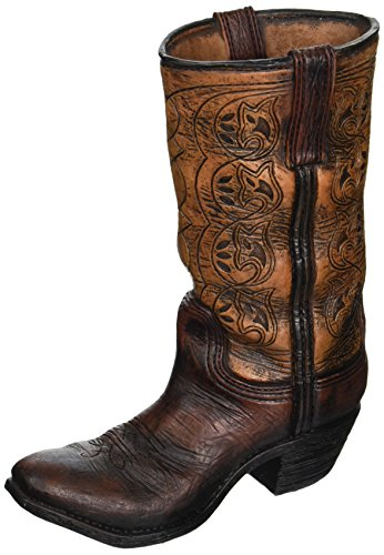 Burton & Burton Western Cowboy Boot Unique Vase for Home, Western Themed (Cowboy Boot Decoration)