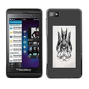 Bosquejo gris Dibujo Tinta Lápiz Negro- Metal de aluminio y de plástico duro Caja del teléfono - Negro - Blackberry Z10