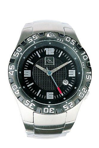Quiksilver M136JF/ABLK - Reloj de caballero de cuarzo, correa de acero inoxidable color plata: Amazon.es: Relojes