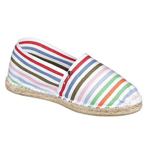 JOE N JOYCE Palma Unisex Espadrilles Handgefertigte Schuhe White /Multi
