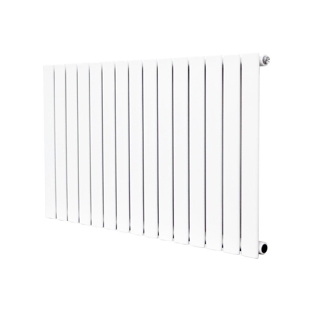 NRG Vertical 1800x408 Flat Panel Column Radiator Bathroom Central Heating Double White