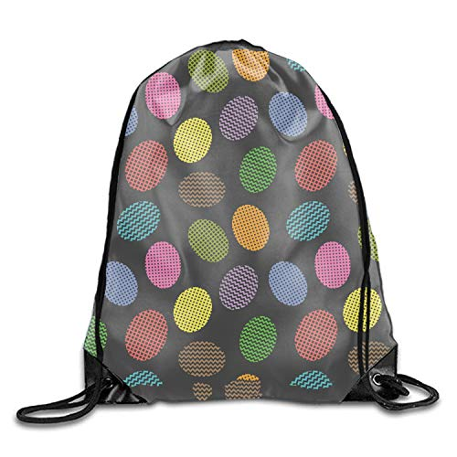 (Egg Gym Drawstring Bags Draw Rope Shopping Travel Backpack Tote Student Camping)