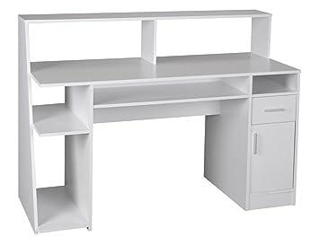 Computertisch modern  WOHNLING Multifunktion Design Schreibtisch Computertisch weiß ...