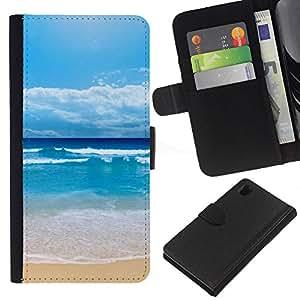 All Phone Most Case / Oferta Especial Cáscara Funda de cuero Monedero Cubierta de proteccion Caso / Wallet Case for Sony Xperia Z1 L39 // Shuitianyise