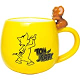 TOMYS FACTORY 托姆&杰瑞 带手办的马克杯 黄色 H10×Φ9.3cm TJ-5524413YE