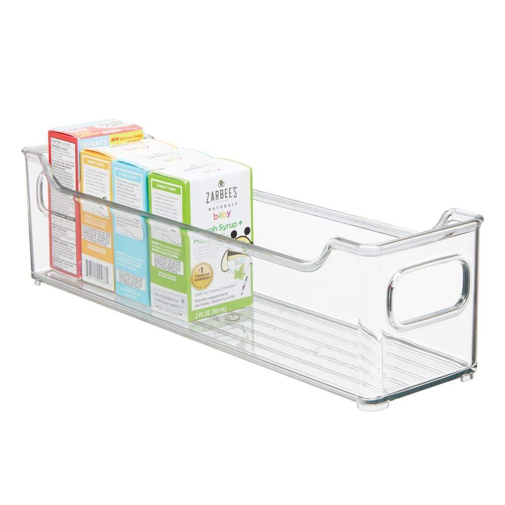 gro/ße Sortierbox mit praktischen Griffen mDesign 2er-Set Kinderzimmer Organizer durchsichtig BPA-freier Kunststoffbeh/älter f/ür Spielzeug Stofftiere /& Co Windeln
