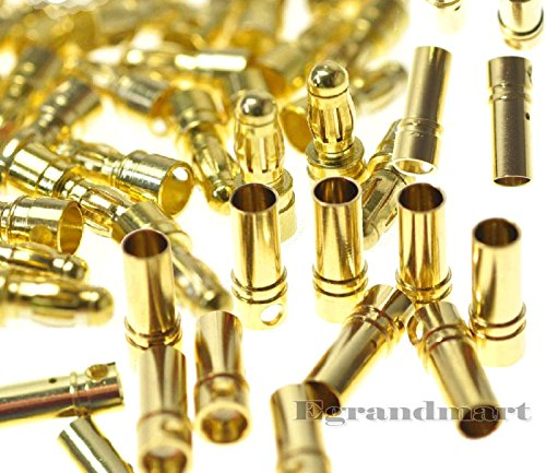 Price comparison product image 10 Pairs 3.5mm Gold Bullet Connector Plug Male & Female for RC Battery ESC Motor