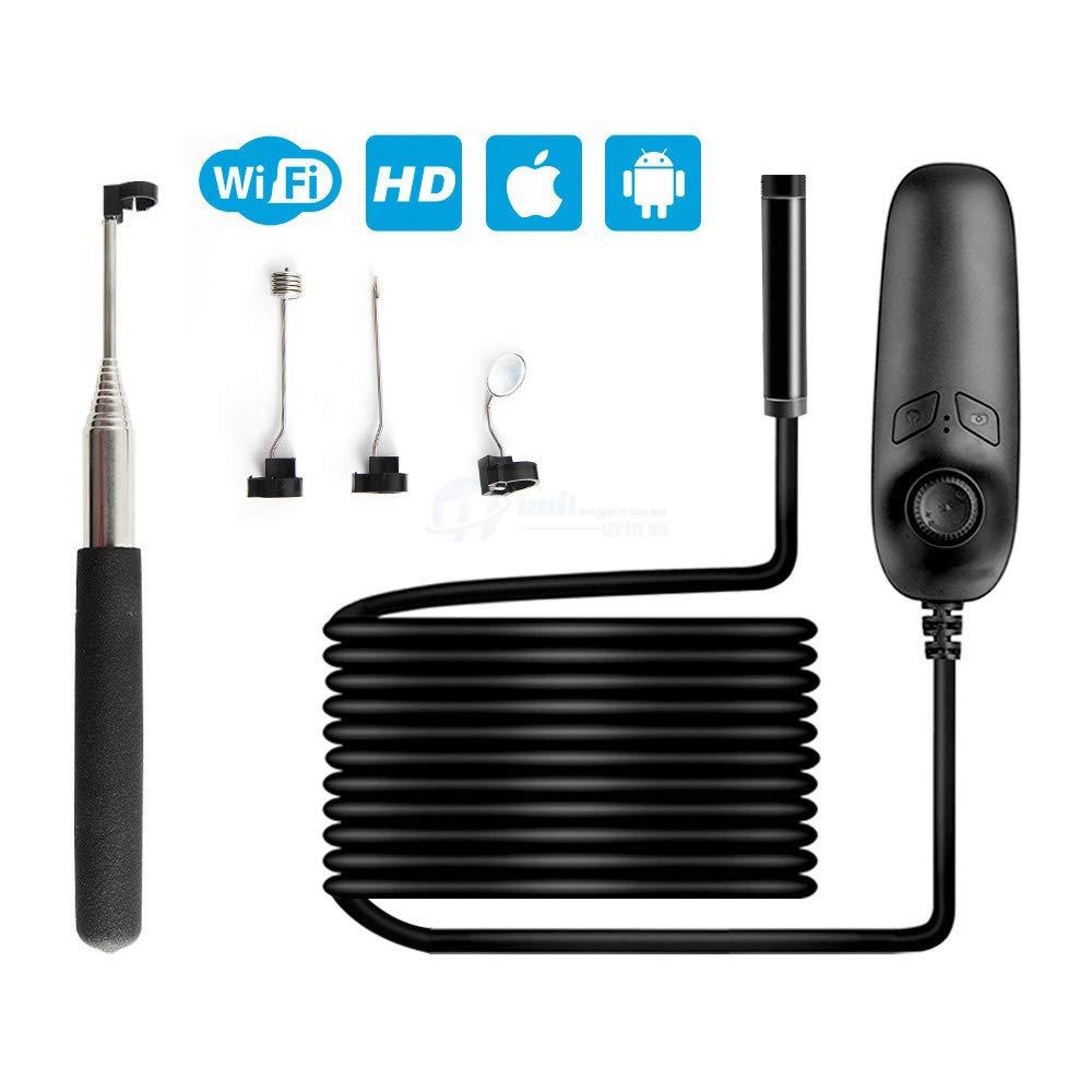 Telecamera Dispezione WiFi Boroscopio Telecamera Endoscopio Industriale Sonda di Ispezione Video per Telefono Fisso Android//iOS Tubo Filo HD Cam