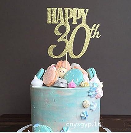 Sensational Amazon Com Astra Gourmet Gold Glitterhappy 30Th Birthday Cake Funny Birthday Cards Online Drosicarndamsfinfo
