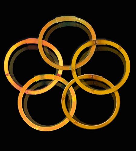 Lumistick 10 Inch Glow Sticks - Glow Sticks With Necklace and Bracelet Connectors - Glowstick Bundle Party Bracelets (100, Orange) for $<!--$13.99-->