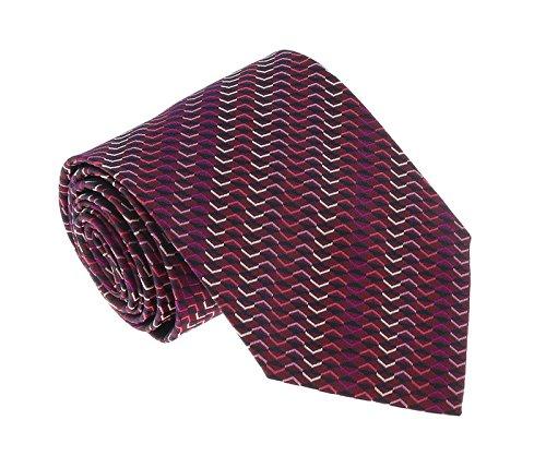 Missoni U5067 Pink/Purple Sharkskin 100% Silk (Sharkskin Tie)